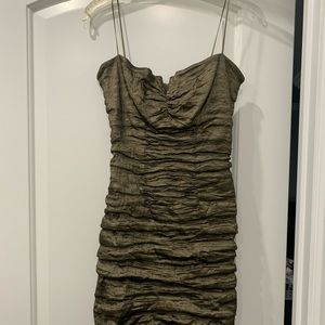 Nicole Miller Green fitted mini dress